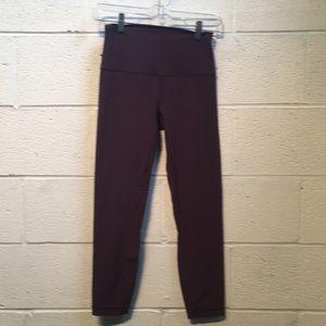 Lululemon dusty purple hi waist Align crops sz 6
